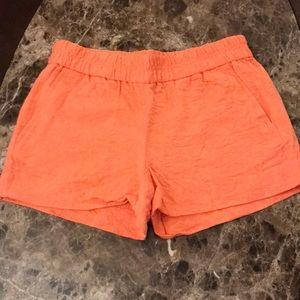 J CREW Coral Pink Patterned Soft Summer Shorts